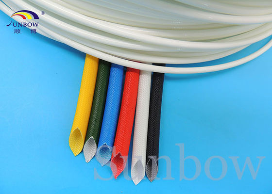 China Flame Retardant Silicone Fiberglass Sleeving Dielectric Strength supplier
