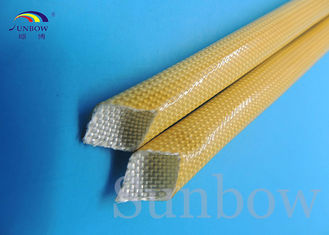China Amber color Polyurethane fiberglass Sleeving 2500V Heat Resistance supplier