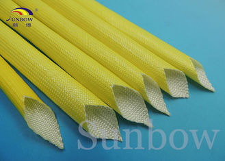 Yellow F Class Acrylic Fiberglass Sleeving Electrical Heat Protection Sleeve