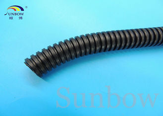 Black PP Corrugated Tubing Slit Wall Corrugated Loom Tubing Black