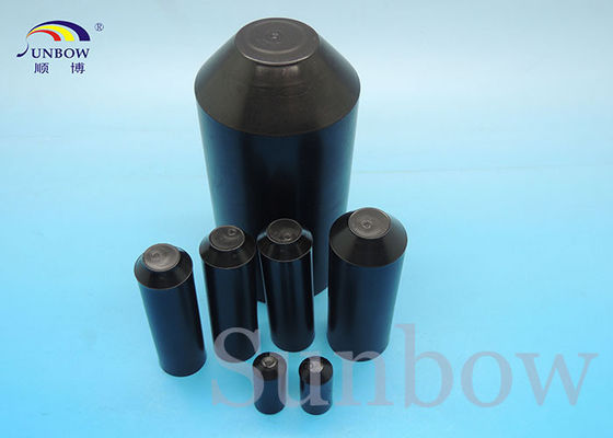 Adhesive lined heat shrinkable silicone hose end caps polyolefin