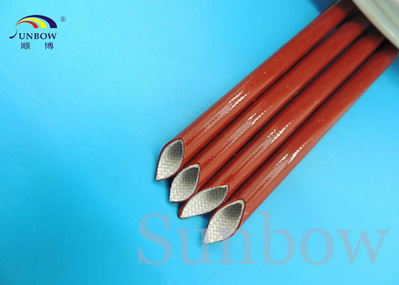 Black Red Silicone Coated Fiberglass Sleeving Electrical Insulation Sleeving