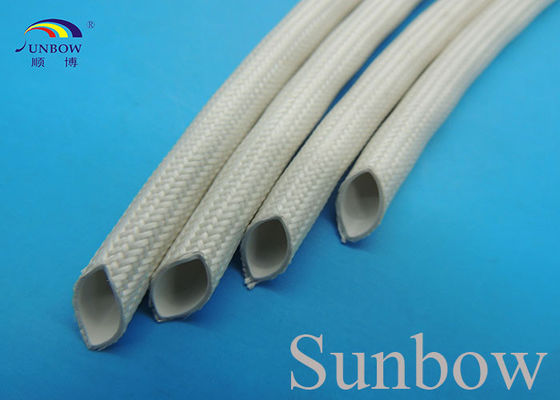 China Extruded Silicone Rubber Tube Reinforced With Non Alkaline Fiberglass Braid supplier