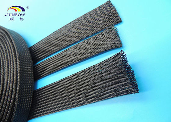 China Non flammable Polyester braided Sleeve , Wear resistant Cable Sleeves for Wire Harness supplier