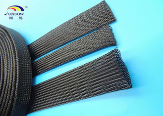 Non flammable Polyester braided Sleeve , Wear resistant Cable Sleeves for Wire Harness