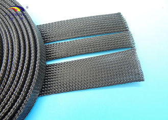 China UL94 V0 PET  polyester expandable braided sleevings for cable protection supplier
