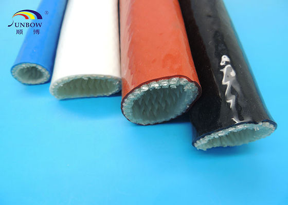 Top quality  Hose Silicone fiberglass sleeve  Protection  fire proof sleeving