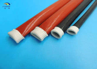 Insulation Expandable Braided Sleeving High Temperature Fiberglass Sleeving Coated Silicone
