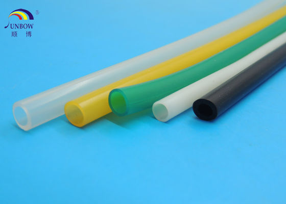 High Voltage Resistant Rubber Resin Soft Silicone Rubber Tube / Pipes Multi Color for Customized