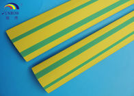 China Insulation Yellow Green Strip Polyolefin Heat Shrink Tubing / Heat Shrinkable Tube Yellow & Green VW-1 Flame Retardant factory