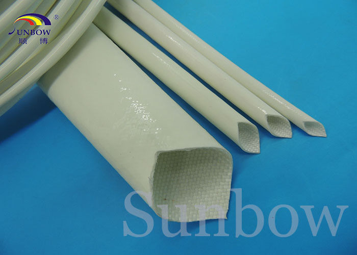 4mm Electrical Wire Silicone Fiberglass Sleeving , thermal