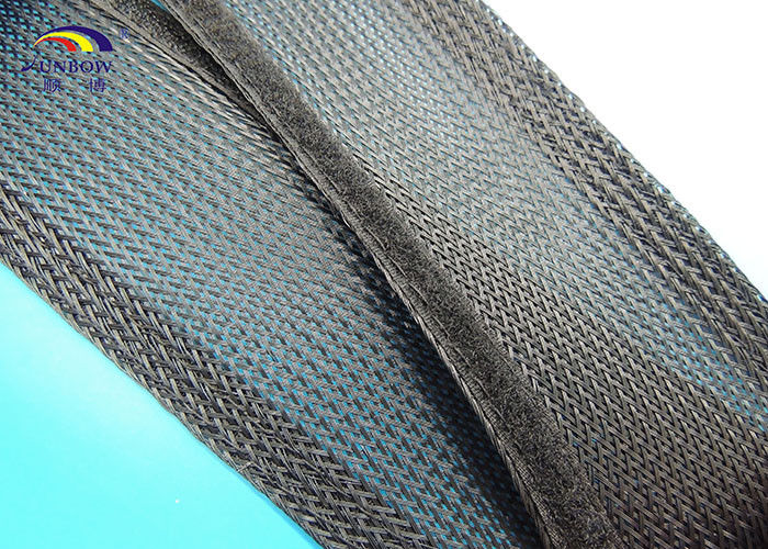 Polyster Braided Mesh Expandable Sleeving With Velcro For