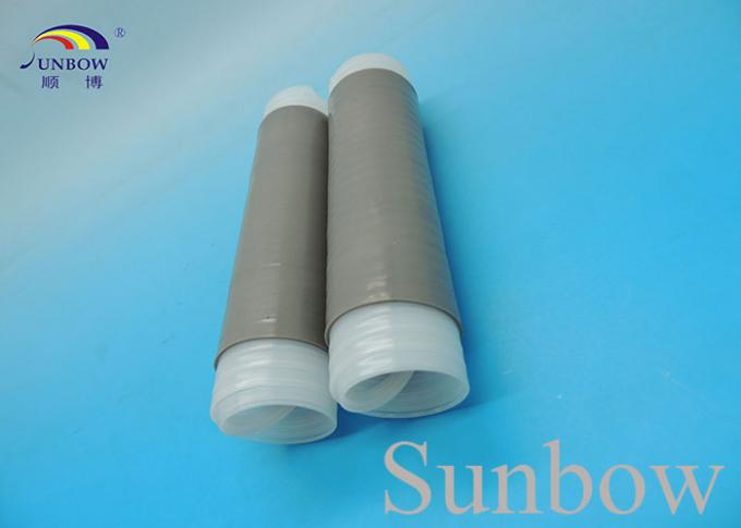Silicone Cold Shrink Tubing shrinking cap , Cable Accessories Grey