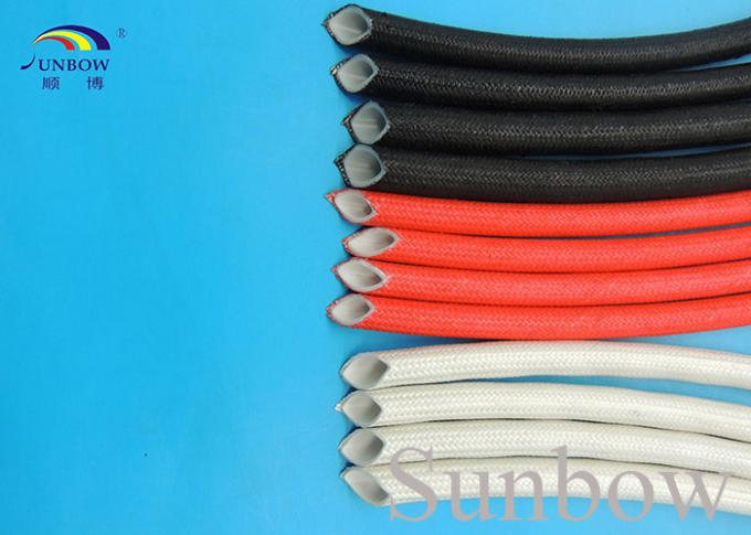 Extruded Silicone Rubber Tube Reinforced With Non Alkaline Fiberglass Braid