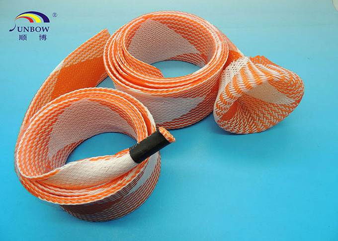 Colorful PET braided expandable Sleeve with ROHS for cable sleeving