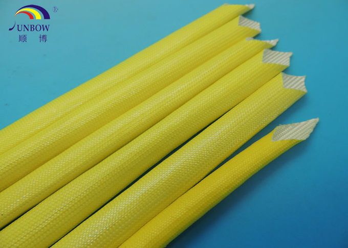 Insulation Acrylic Fiberglass Sleeving / Sleeves Wear Resistance oil proof