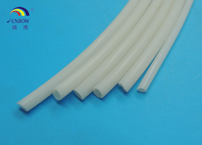 Flexible White Silicone Rubber Tube for Automobile Cable , Sealings , Wiring Insulation
